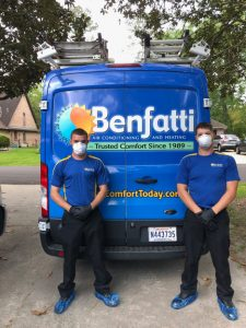 Our technicians take special precautions to protect your family.